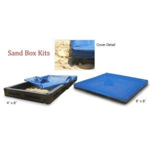 4u0027x8u2032 Sand Box Package With Cover