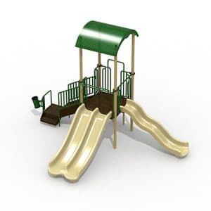 Connecticut Playground Equipment GoPlay 2 Composite Play set Earthtone green