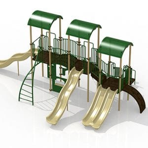 Composite Play set GoPlay #6 Earthtone green
