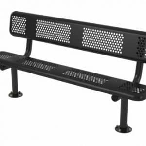 6ft bench with back