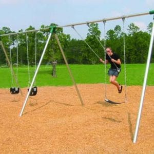 Commercial bi-pod swing