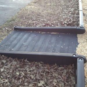 ADA half ramp