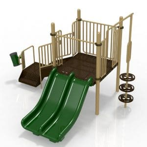 T1 Commercial playground set for ages 2-5