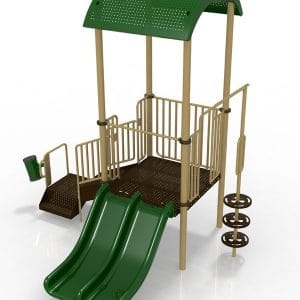 T1R Composite playground set for ages 2-5