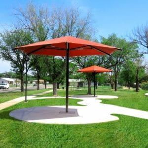 10' x 10' hexagon umbrella shade