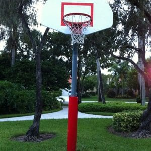 Basketball post pads