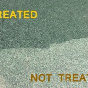 treated playground rubberized surface