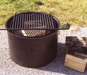 Commercial fire grill