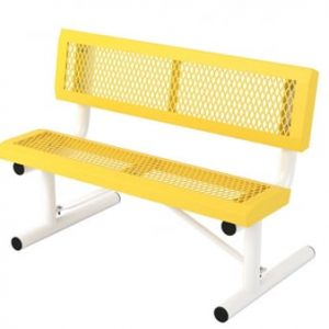 4ft commercial bench with back