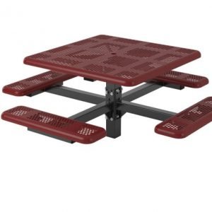 Square commercial picnic table
