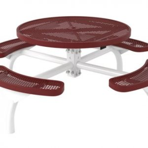 Round commercial picnic table CT