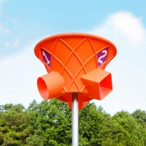 Basketball hoop with multiple holes